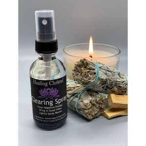 palo santo and sage clearing spray