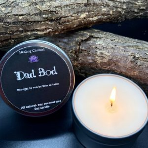 dad bod travel tin candle
